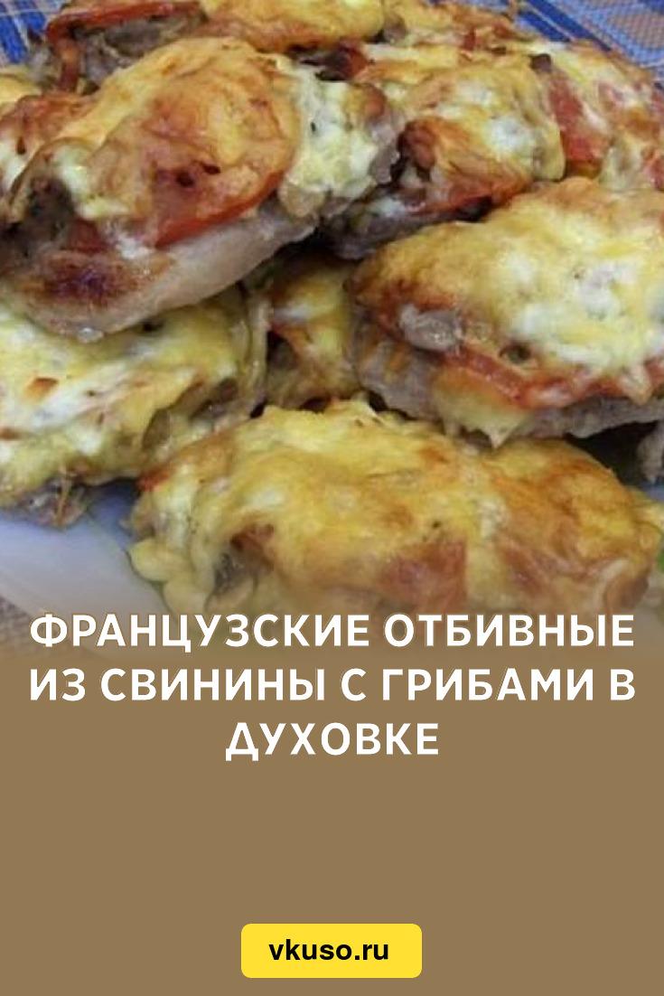курица отбивные с грибами в духовке