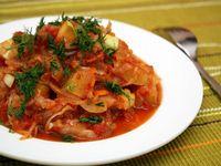 Овощное рагу (без мяса), рецепт