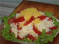 Салат из цыпленка с рисом