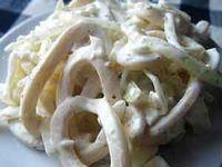 Салат из кальмаров с плавленым сыром