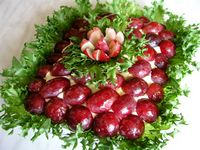 Салат из курицы с виноградом, рецепт