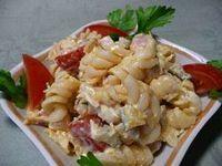 Салат с курицей и вареным окороком