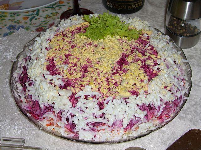 Селедка под шубой, классический рецепт салата