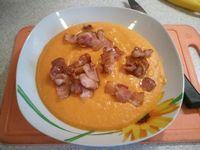 Суп из тыквы с беконом