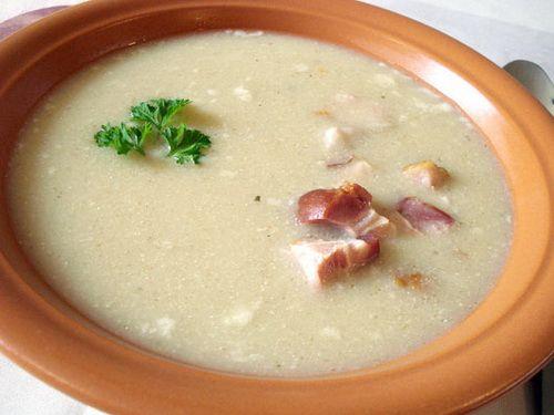 Суп с овсяной или ржаной мукой и копчёной грудинкой (жур), рецепт